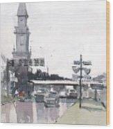Tampa Tower At Hillsborough Intersection Wood Print