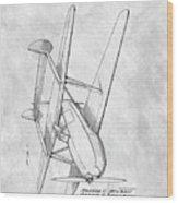 Tandem Biplane Patent Wood Print