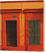Tangerine Casa By Michael Fitzpatrick Wood Print
