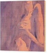Tangerine Nude Wood Print