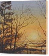 Tangerine Sky Wood Print