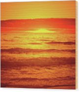 Tangerine Sunset Wood Print