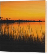 Tangerine Sunset Wood Print