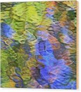 Tangerine Twist Mosaic Abstract Art Wood Print