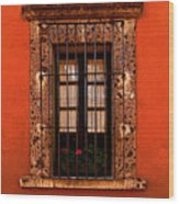 Tangerine Window Wood Print