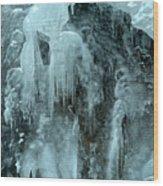Tangle Falls Frozen Cascade Wood Print