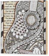 Tangle Guitar 1 Wood Print