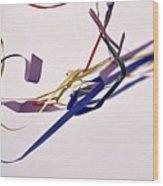 Tangled Ribbons Wood Print