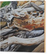 Tangled Timbers Wood Print