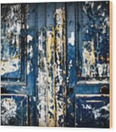 Tangled Up In Blue Wood Print by Cabral Stock