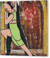 Tango Green Wood Print