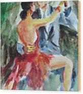 Tango In The Night Wood Print