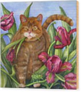 Tango In The Tulips Wood Print