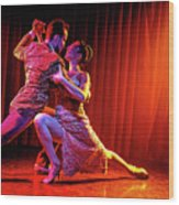 Tango Split Wood Print
