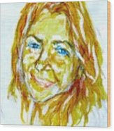 Tania Helft, Portrait Wood Print