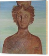 Tanit Mythical Godess Of Ibiza  Wood Print