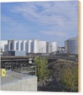 Tank Farm Nustar Wood Print