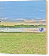 Tank Fishing - Karnes City, Tx Wood Print