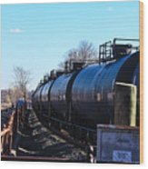 Tanker Cars Pulled By Csx Engines Wood Print