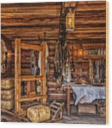 Tanning Room - Fort Ross California Wood Print