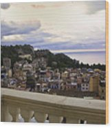 Taormina Balcony View 2 Wood Print