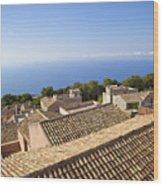 Taormina Rooftops Wood Print