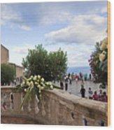 Taormina Square Wood Print