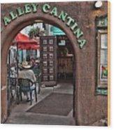 Taos Alley Cantina Wood Print