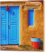 Taos Doorway Wood Print