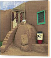 Taos Oven Wood Print by Jerry McElroy