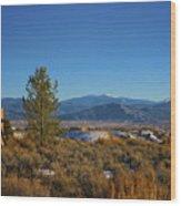 Taos Valley Wood Print
