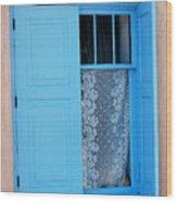 Taos Window Wood Print