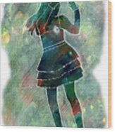 Tap Dancer 1 - Green Wood Print