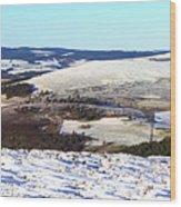 Tap O'noth Panorama Wood Print