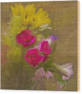 Tapestry Bouquet Wood Print
