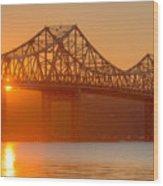 Tappan Zee Bridge At Sunset I Wood Print