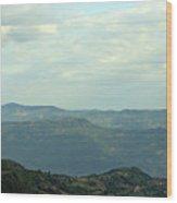 Tara Mountain West Serbia Landscape  Wood Print