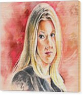 Tara Summers In Boston Legal Wood Print
