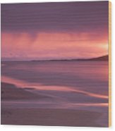 Taransay At Sunset Wood Print