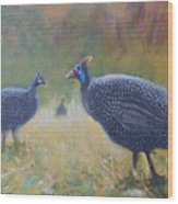 Tarantale - Guinea Fowl Wood Print