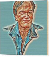 Tarantino Portrait Wood Print