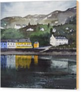 Tarbert Reflections Wood Print
