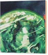 Tardis Crash Landing Wood Print