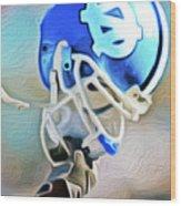 Tarheel Football Helmet Nixo Wood Print