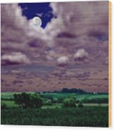 Tarkio Moon Wood Print