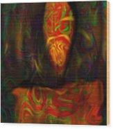Tarot Candle Wood Print