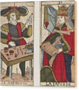 Tarot Cards, C1700 Wood Print