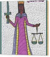 Tarot Of The Younger Self Justice Wood Print