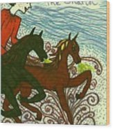 Tarot Of The Younger Self The Chariot Wood Print