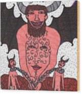 Tarot Of The Younger Self The Devil Wood Print